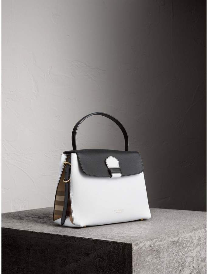 Burberry Medium Two-tone Leather and House Check Tote.  bags  ad   crossbodyandshoulderbag  leatherbags  totebag d6766efe4961a