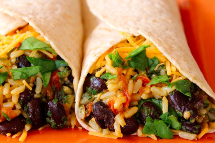 Spinach & Bean Burrito Wraps not only tastes amazing, but they are full of nutrients and each have 13 grams of protein and one cup of spinach per serving.