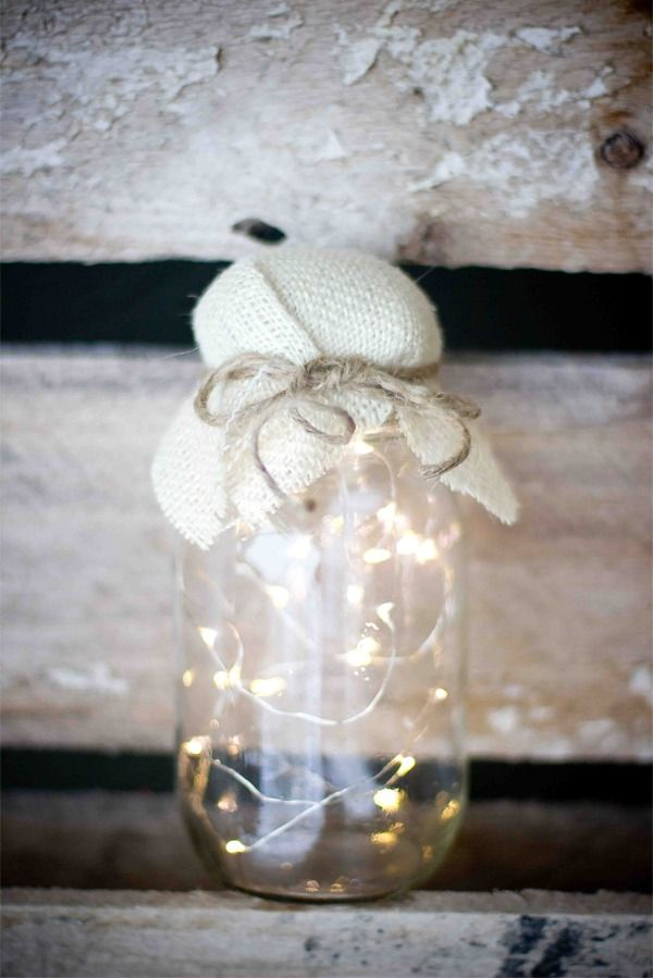 DIY Fairy Light Mason Jar - Add some sparkle to your home with this cool craft idea.