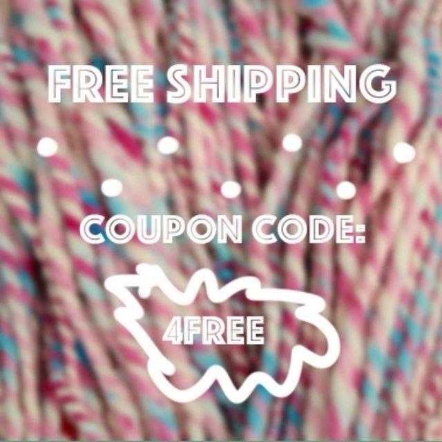 """Free shipping! Today through Friday April 29th. Use coupon code """"4FREE"""" Etsy link in bio* * *  #freeshipping #yarnsale #etsysale #couponcode #sirenspun #yarn #handspunyarn #handspunstagram #bulkyyarn #armknitting #weaving #yarnforweaving #weavingyarn #knitting #crochet"""