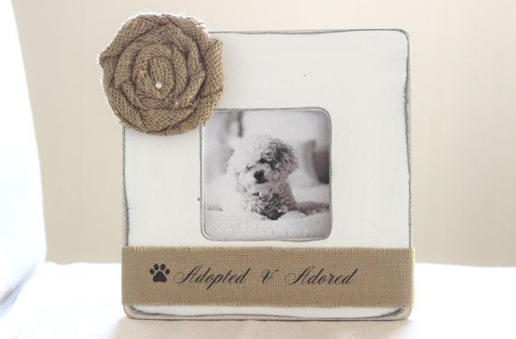 Dog Adopted Rescued Personalized Picture Frame by CrystalCoveDS, $28.00