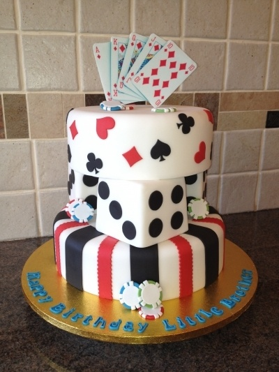 Poker themed cake By Beccimac on CakeCentral.com