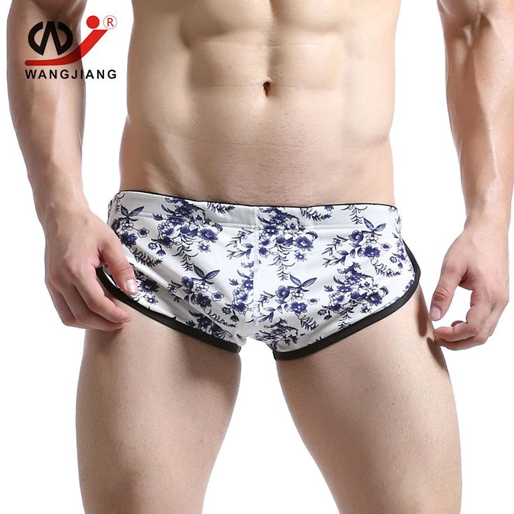 Mens Sportswear Sexy Gay Home Underwear Calzoncillos Hombre Slips Sport Shorts Cuecas Cotton Sexy Men Briefs running gym Sport