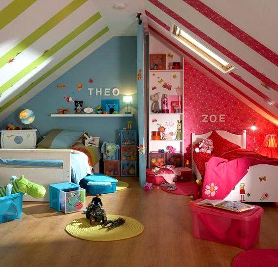 Idee deco chambre enfant mixte