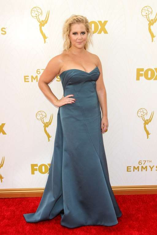 Amy Schumer at the Emmy Awards at the Microsoft Theater in Los Angeles, Sep. 20, 2015.