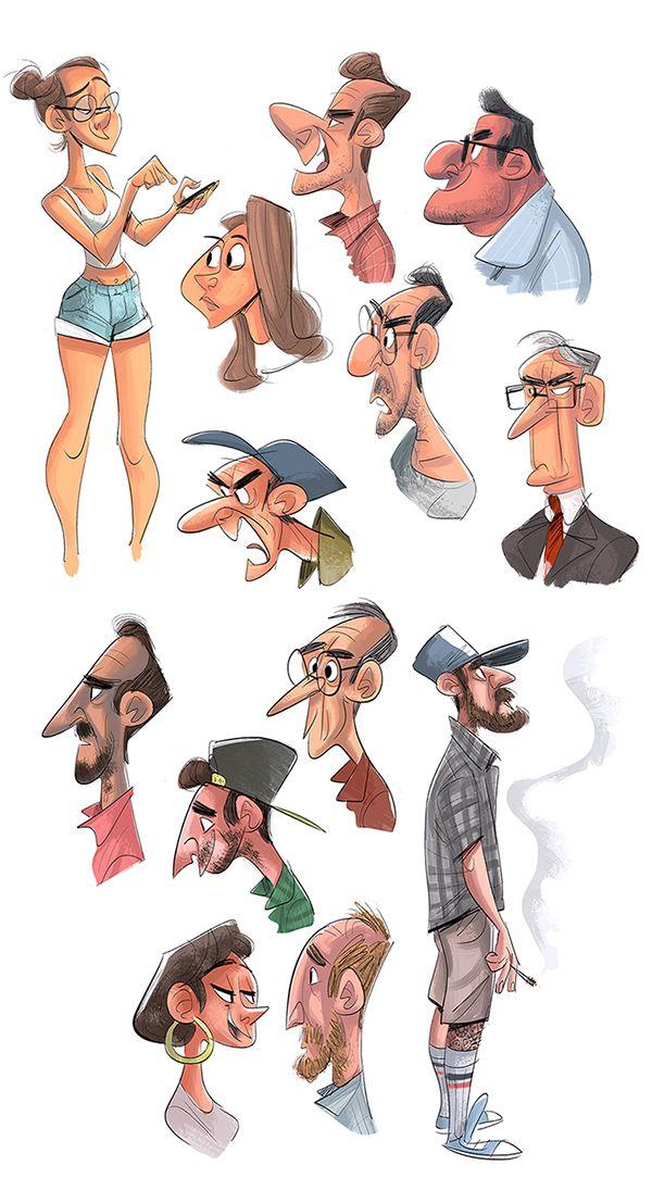 Cartoon Character Design Tips : Best character design ensemble images on pinterest