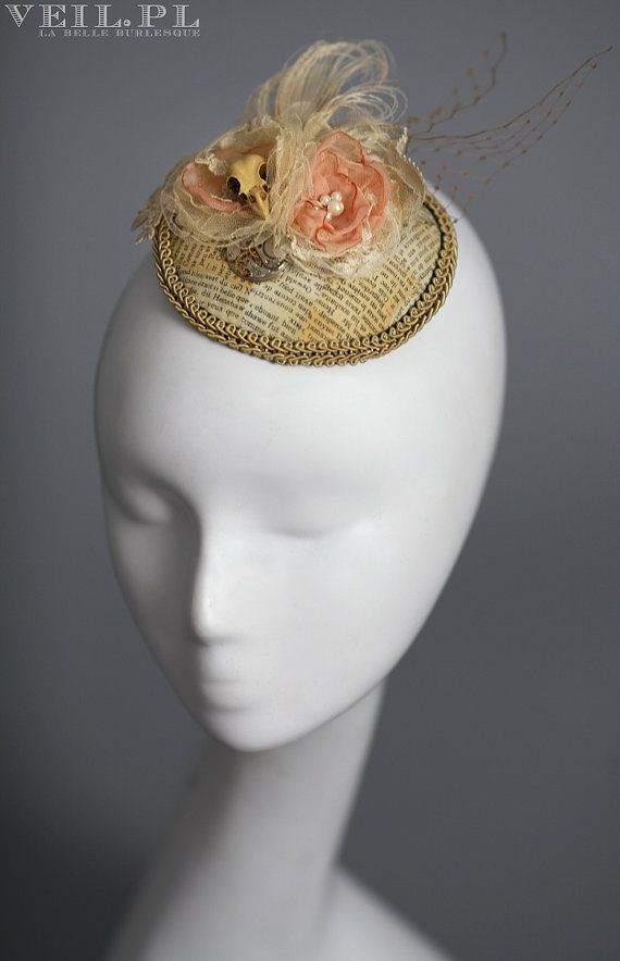 READY TO SHIP Steampunk fascinator shabby chic by VeilFascinators