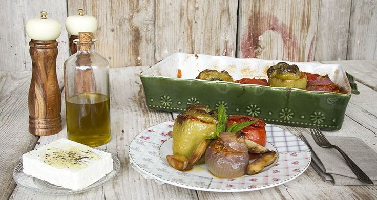 Vegetarian stuffed vegetables - Gemista by Greek chef Akis Petretzikis. A spectacular Greek style risotto! A traditional dish with rice stuffed vegetables!