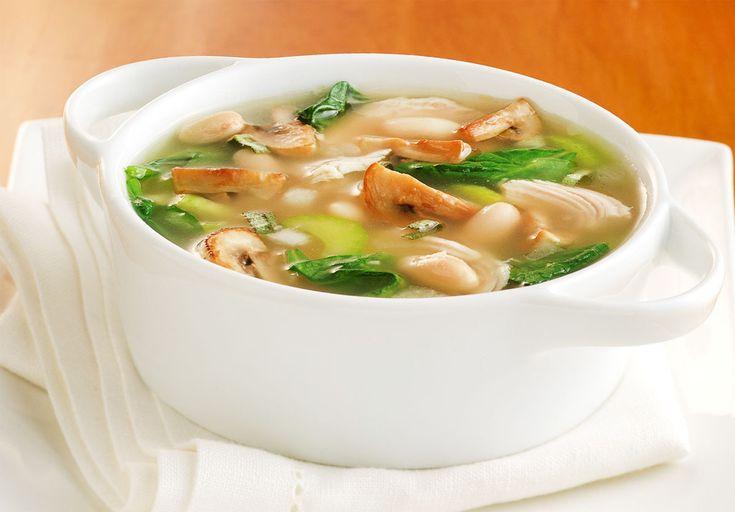Грибной суп из шампиньонов, который легко приготовить.