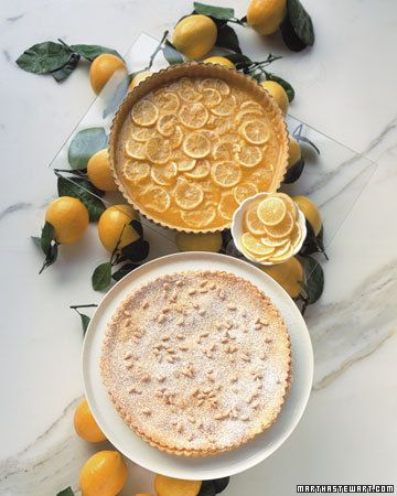 Lemon Pine-Nut Tart by marthastewart #Meyer_Lemon #Pine_Nut #Torte