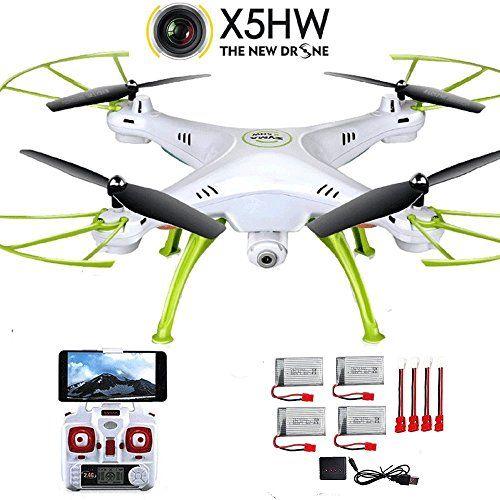 Creation® Syma X5HW Quadcopter Drone mit Kamera 2.4G Wireless LAN Echtzeit -Übertragung Luft Fernbedienung Drone (Extra- 4pcs Batterien $ 4 in 1 Ladegerät & 5pcs Adapterkabel ) - http://www.midronepro.com/producto/creation-syma-x5hw-quadcopter-drone-mit-kamera-2-4g-wireless-lan-echtzeit-ubertragung-luft-fernbedienung-drone-extra-4pcs-batterien-4-in-1-ladegerat-5pcs-adapterkabel/