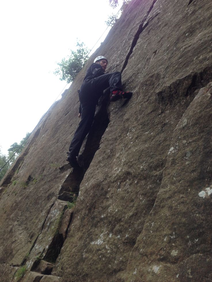 Climbing Eastern Grit in the Peak District