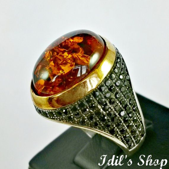 Men's Ring Turkish Ottoman Style Jewelry 925 Sterling by IdilsShop, $85.00