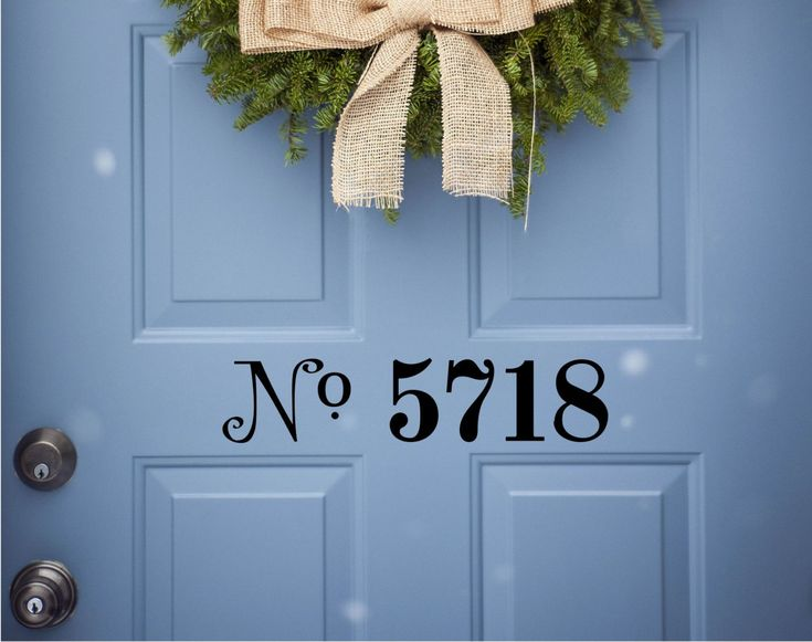 Custom House Number Vinyl Door Decal - Address Decals, Home Office Decorations, Custom House Number Vinyl Decals, Vinyl Lettering Numbers by TheVinylCompany on Etsy