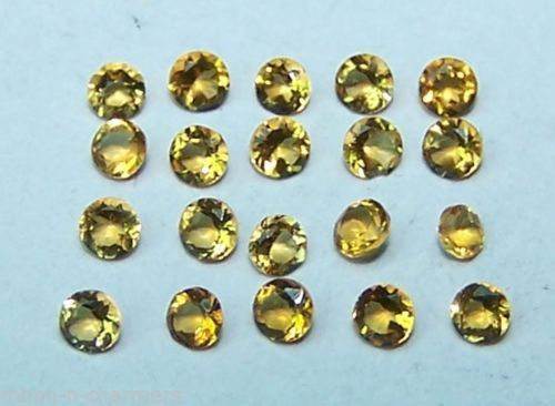 Natural Golden Citrine 2 MM Cut Round 10 Loose Pieces AAA Lot/Parcel