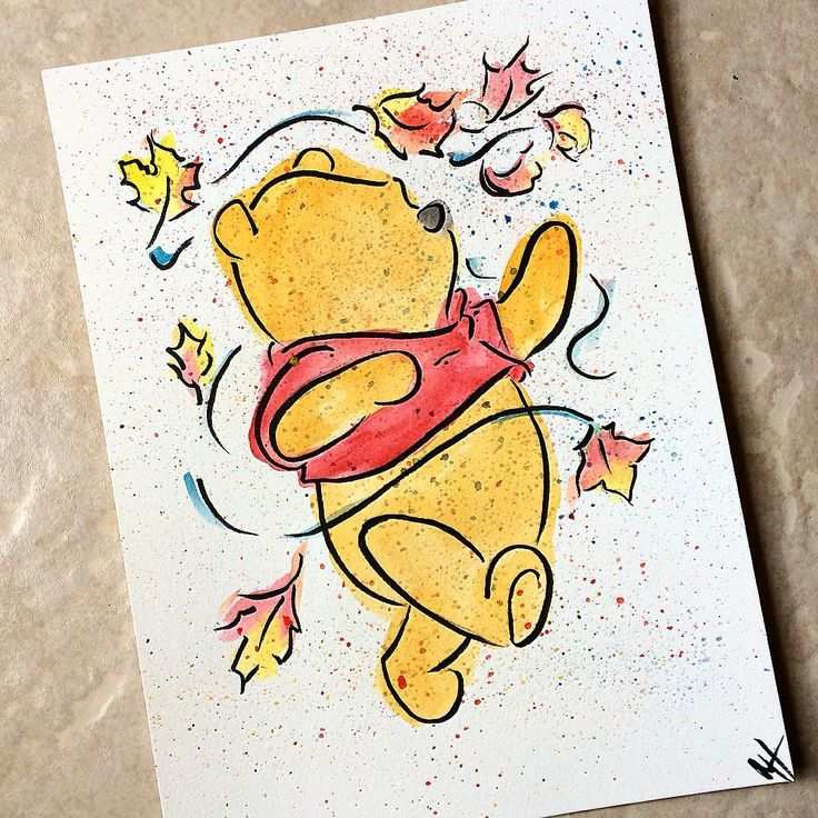 Happy Thanksgiving!! I am thankful to all my family and friends ( yes that includes you ) that have supported me in my artistic journey. Thank you everyone I wouldn't have the confidence to put my paintings online if it wasn't for all your support! What are you thankful for? #thankful  #thanksgiving #happythankgiving #poohbear #disney #disneyart #art #painting #watercolor #whatareyouthankfulfor