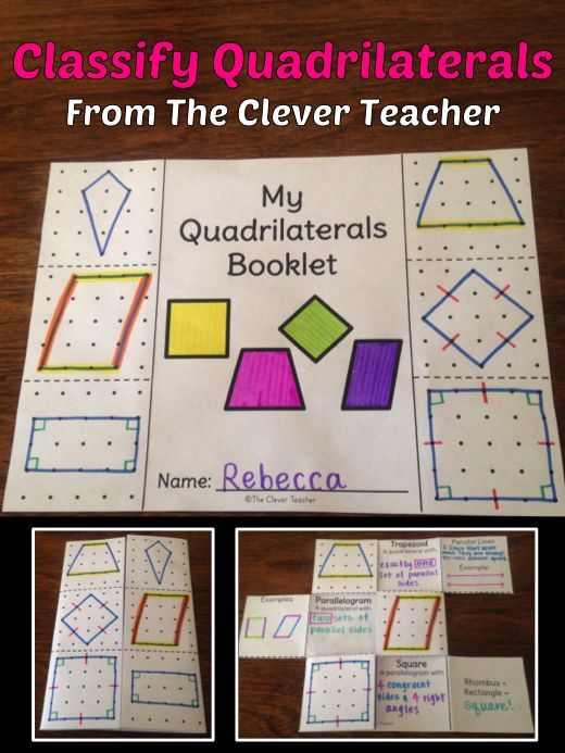 Quadrilaterals Hands On Learning We Learn Best By Doing