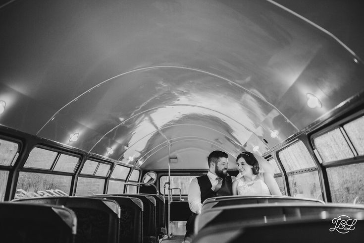 All aboard! Vintage bus bride and groom portrait shoot in black and white   The Faversham Leeds, Leeds University, University of Leeds, Leeds Centre Yorkshire Urban Wedding. Nightclub wedding. Unique wedding venue. Leeds Town Hall   Want to see more? www.jamesandlianne.com Yorkshire Based Wedding Photographers Capturing the Day how You remember it