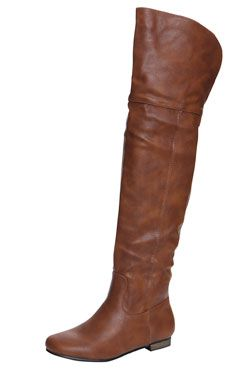 Gia Tan Leather Look High Leg Wader Boots at boohoo.com