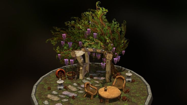 Finally I got my garden models on viewers; hopefully you all enjoy this !<br>Screenshot with additional details (concept, textures, engine render view) are on the link :https://www.artstation.com/artwork/unreal-engine-4-render