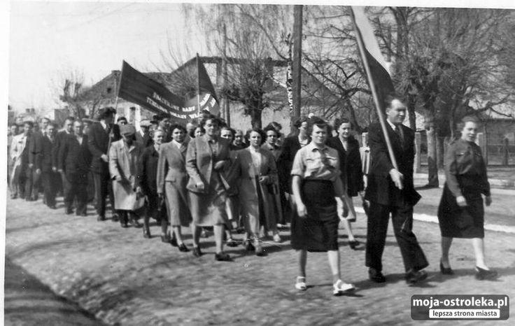 Ostrołęka powojenna (fot. archiwum prywatne)- 1 Maja 1956