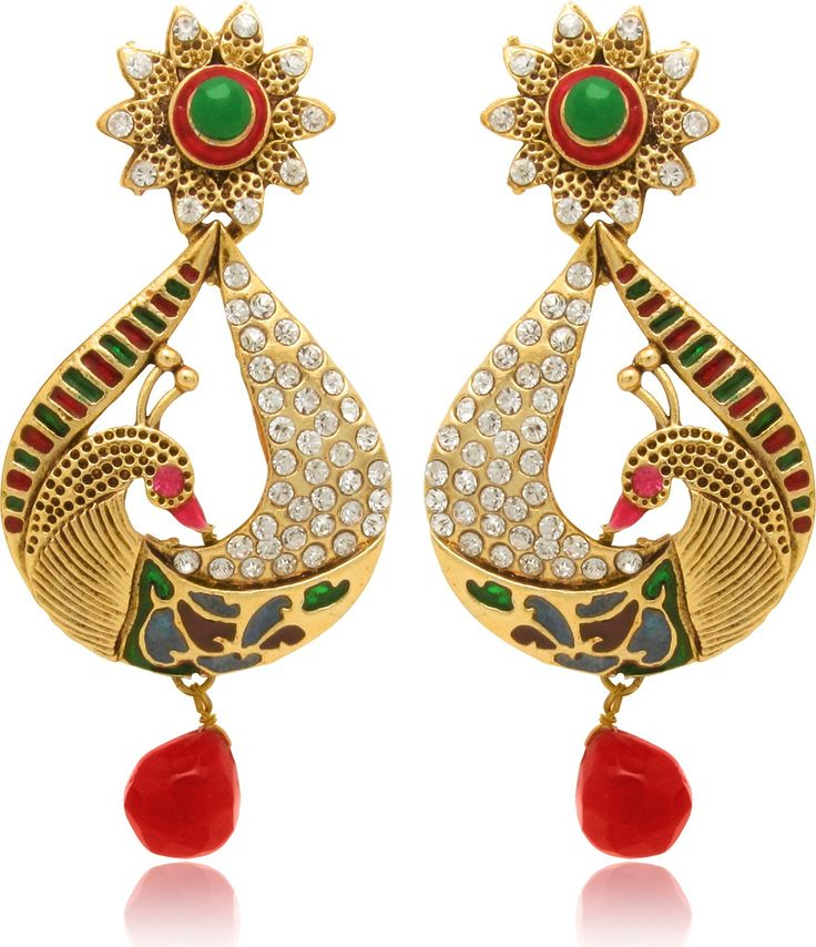 #BuyFromLink --> http://fkrt.it/5e2KouuuuN Donna Pear Peacock Crystal Alloy Drop #Earring #Indianfashion #Gorgeous #look #style  #Shop #Buy #online #india Your ethnic outfit will look simply incomplete without a pair of beautiful earrings. So get these pair of drop earrings from Donna and complete your look on almost any occasion, be it a wedding or a religious ceremony.