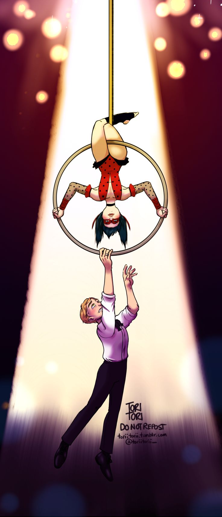 I love all these miraculous/the greatest showman crossovers so much!!