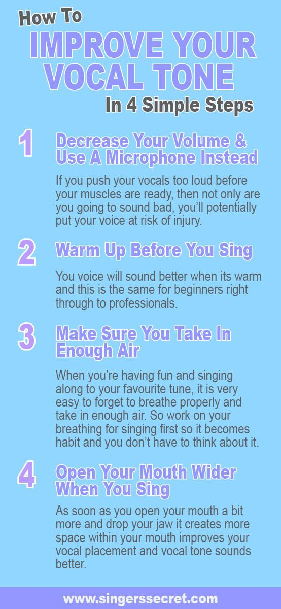 Tips to help you improve your vocal tone straight away. For more free tips head to www.singerssecret.com. #singingtips #howtosing #onlinesinginglessons