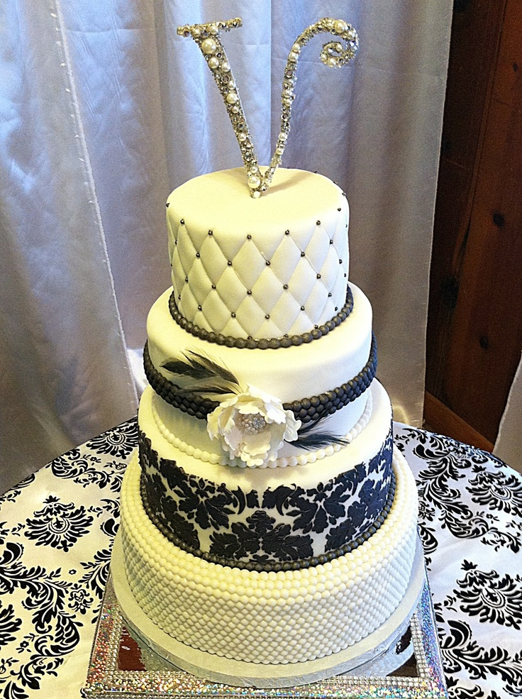 hollywood themed wedding cakes glam wedding cake black and white my 15272