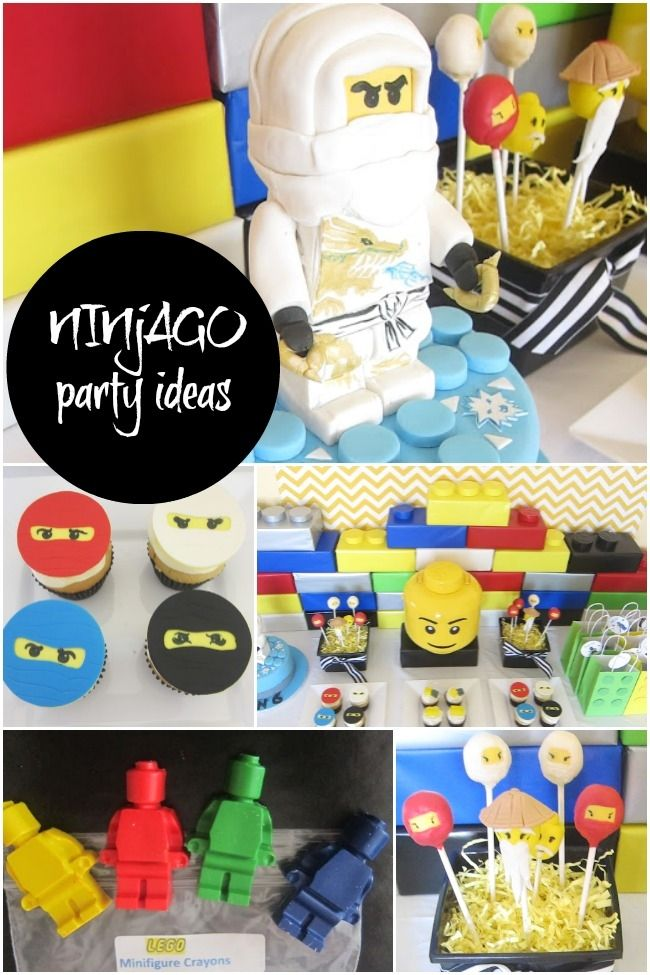 Does your guy prefer Lego or Ninjago? He can have them both at this well-built Lego Ninjago Boy's Birthday Party!