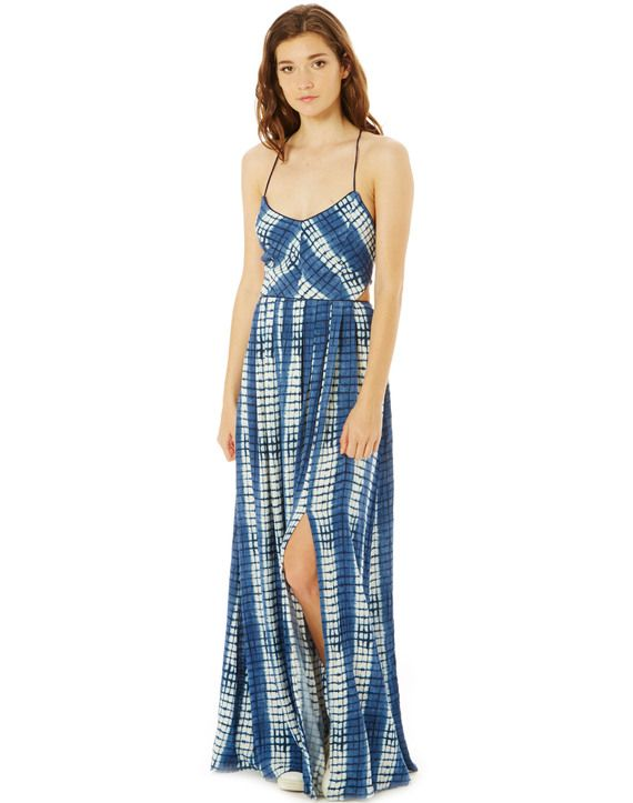 Print Side Splits Maxi Dress