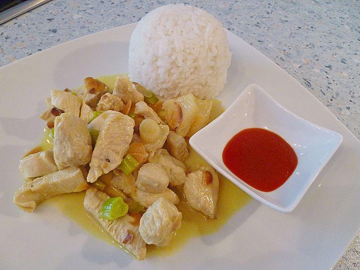 Hähnchen-Ananas-Curry mit Kokosmilch, ein sehr schönes Rezept aus der Kategorie Geflügel. Bewertungen: 116. Durchschnitt: Ø 4,4.