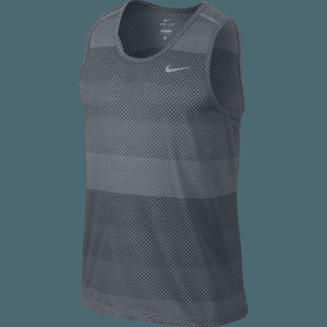 Nike Herre Dri-Fit Cool Tailwind Stripe Singlet