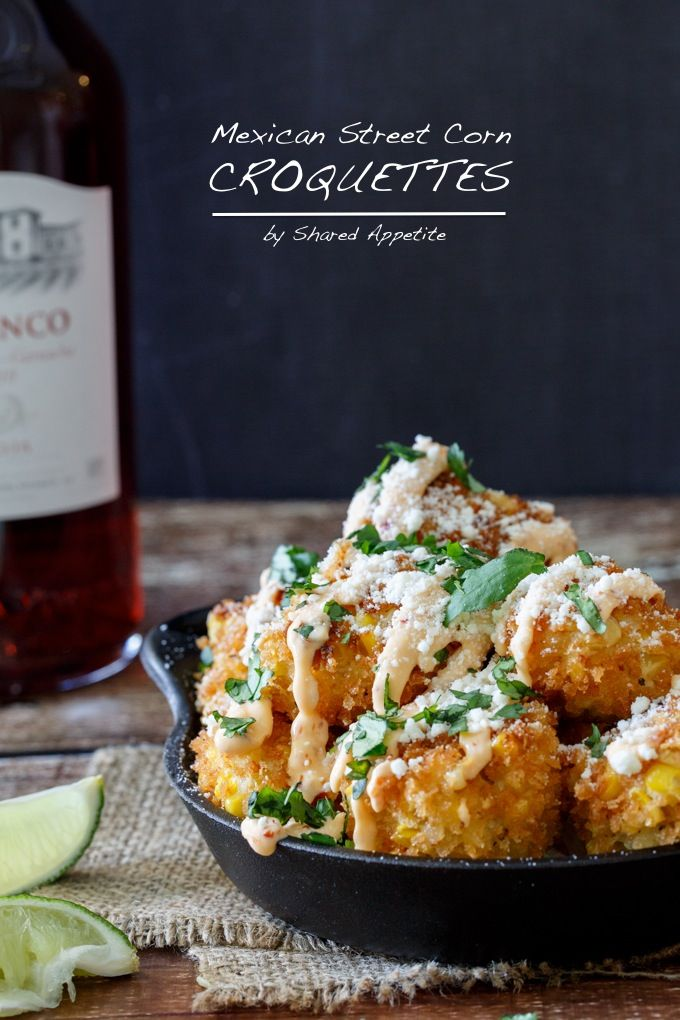Mexican Street Corn Croquettes - omg, this corn is good on its own, but turning it into a croquette ..?  hold me back
