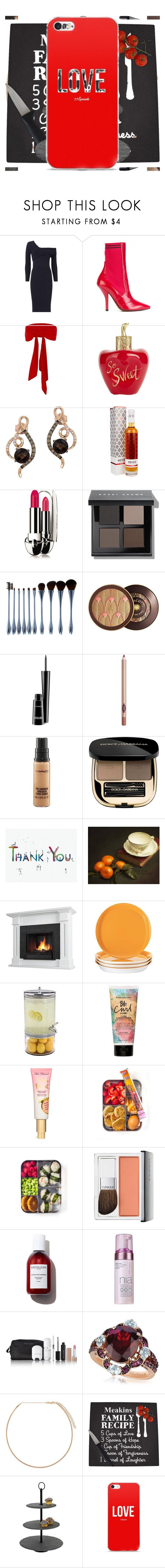 """Thanksgiving looks"" by knmaem on Polyvore featuring Michelle Mason, Fendi, River Island, Lolita Lempicka, LE VIAN, Guerlain, Bobbi Brown Cosmetics, My Makeup Brush Set, MAC Cosmetics and Charlotte Tilbury"