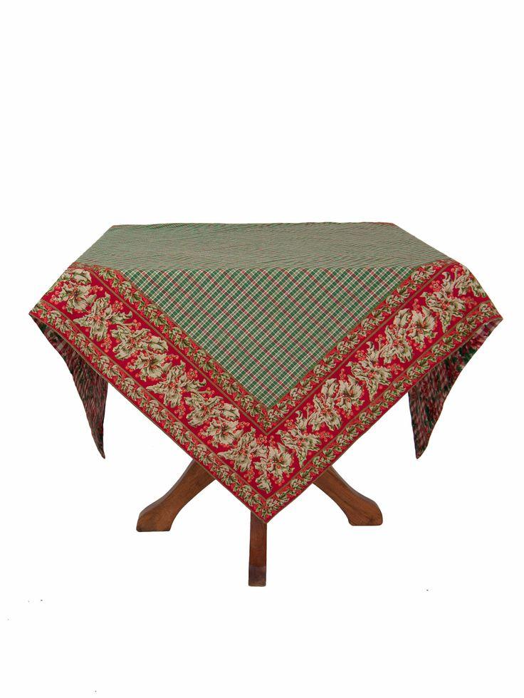beautiful christmas tablecloths | Holiday Patchwork Tablecloth | Table Linens & Kitchen, Tablecloths ...