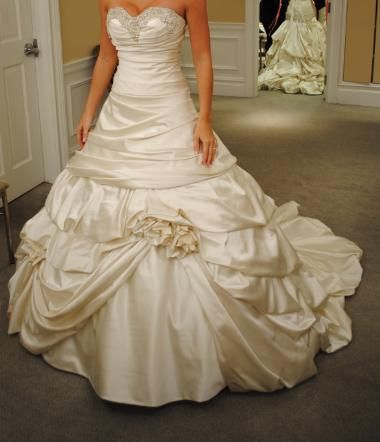 This is a Pnina Tornai Wedding dress.  It reminds me of Beauty's dress from Beauty and the Beast. This will be a dress i definitely try on one day.