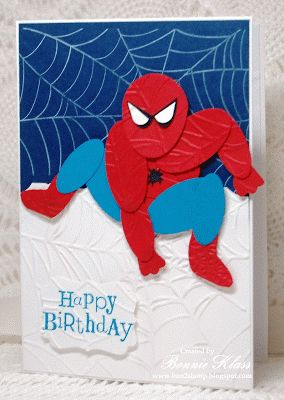 Stamping with Klass: Spectacular Birthday spiderman