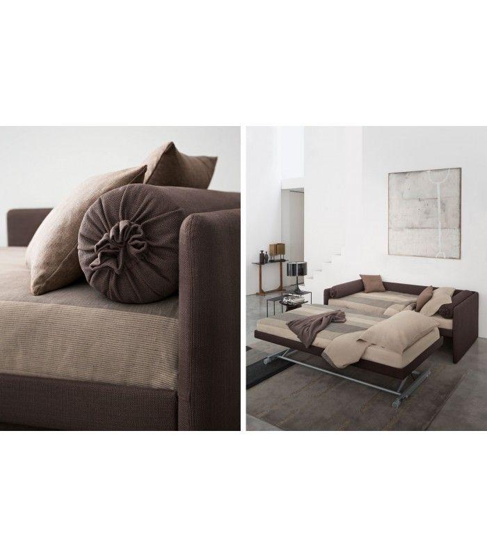 Sofabed Duetto Flou - Italian Design Outlet #Flou buy at #italian #design #outlet €3800,00 Transformable bed of simple elegant design.