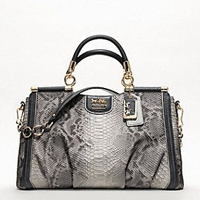 The Coach Madison Embossed Python Caroline