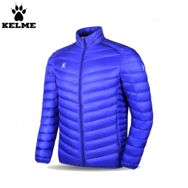 82.75$  Buy here - http://aliipy.worldwells.pw/go.php?t=32734057286 - Kelme K15P021 Men Long-sleeved Stand Collar Warm Lightweight Down Jacket Blue 82.75$