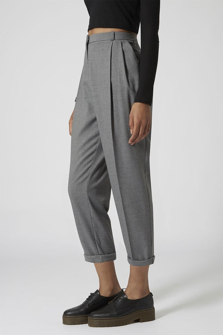 Flannel Mensy Crop Trousers - Trousers - Clothing - Topshop
