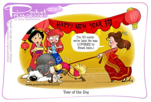 Pocket Princesses 237: Year of the Dog (EDITED to correct the ideogram in the banner!) Please reblog, don't repost, edit or remove captions