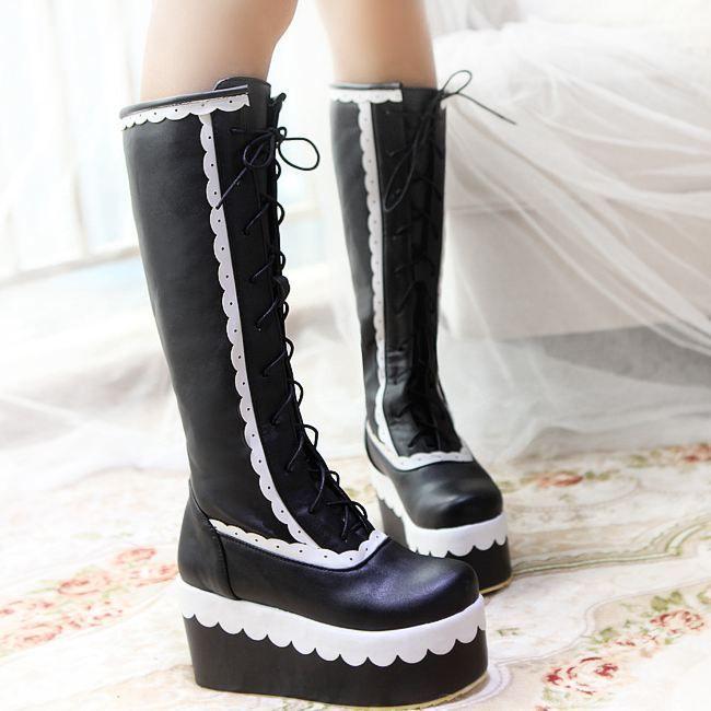cher pas plateforme chaussure chaussure plateforme gothique xPnPXqaB