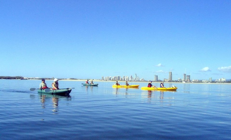 Kayaking on the Gold Coast Queensland. Australia. Brought to you by Femme Classic Art http://www.femme-classic-art.com Tags: win trip to Australia pin it! Contest competition