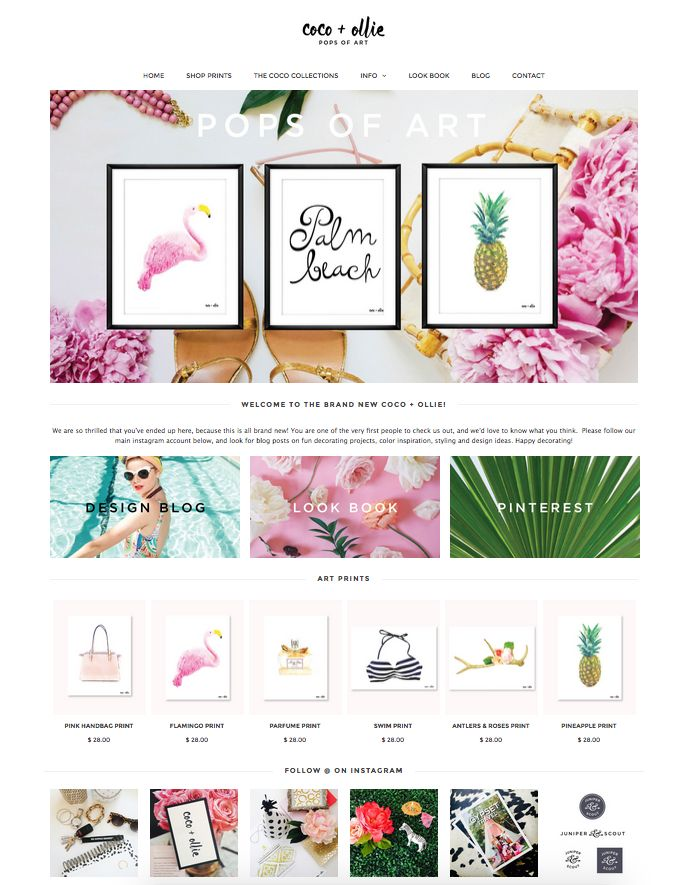 The Brand New Coco + Ollie Print Shop is now open!