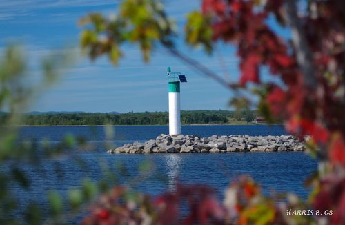 The lighthouse at the Pembroke Marina