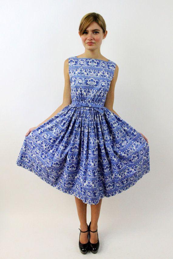 Love this delft blue dress.