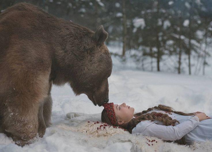 Russian Photographer Takes Enchanting Fairytale Photos Featuring - Russian photographer takes enchanting fairytale photos featuring wild animals