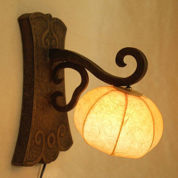 Paper Wall #Lamp with Wall Mount Yellow Lantern Light